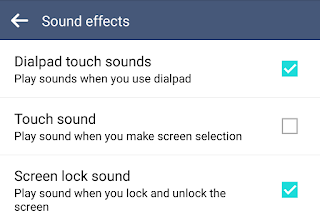 "Turning off dialpad touch sounds in LG's ""sound effects"" settings"