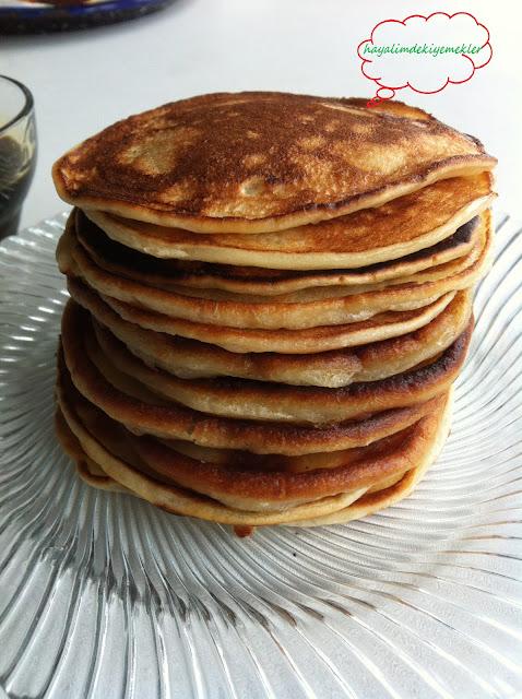 en kolay pankek tarifi resimli anlatimla pankek,pancake
