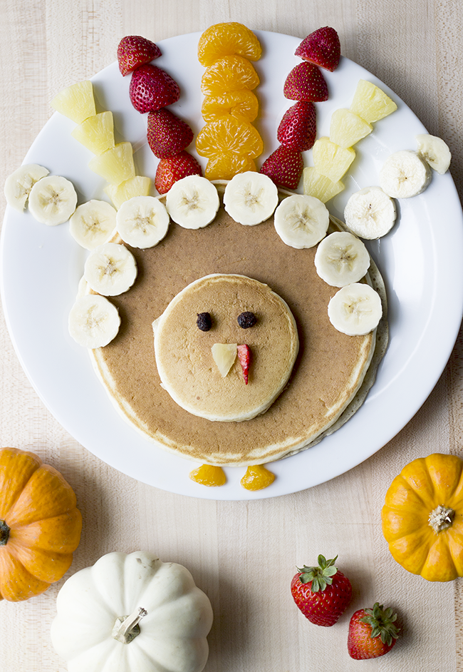 Fun Thanksgiving Themed Turkey Pancakes