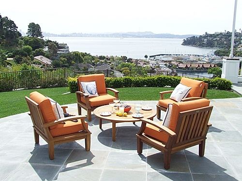Deep seating chairs and other teak furniture