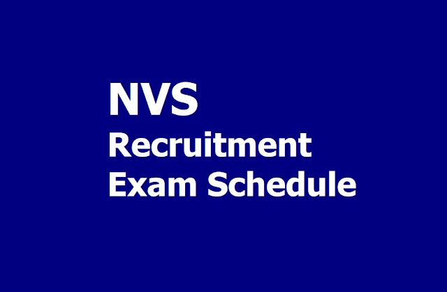 NVS Recruitment Exam Schedule 2019 for Teaching and Non Teaching Posts