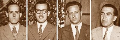 Los ajedrecistas Ribera, Cherta, P. Soler y J. Comas