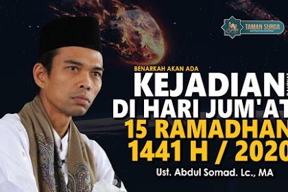 Benarkah Ada Dukhan 15 Ramadhan 2020? Ini adalah perkataan UAS.
