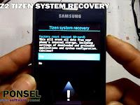 Cara Masuk Recovery Samsung Z2 Tizen