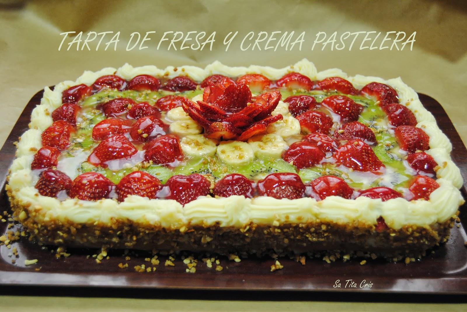 Sa Tita Cris Tarta De Fruta Y Crema Pastelera