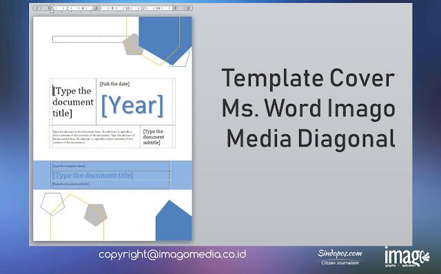 Template Cover Ms. Word Imago Media Diagonal