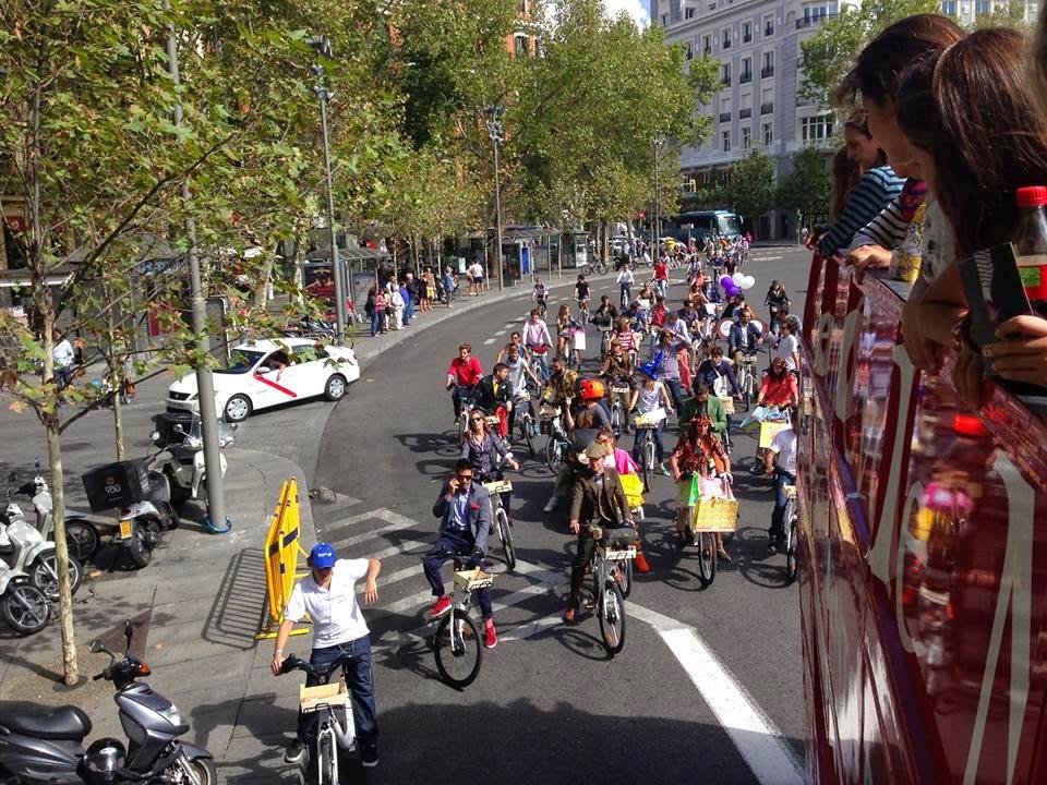 En la Puerta de Alcalá durante Trendcycle Madrid 2014 - Foto: Amaya Barriuso