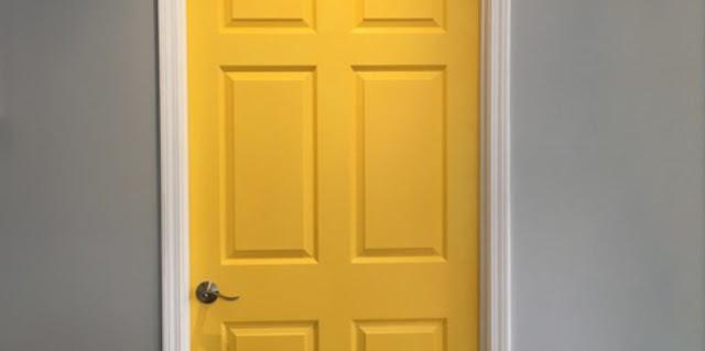 Pintura en puertas de paso