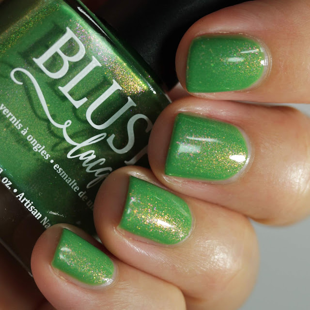 BLUSH Lacquers Green with Envy swatch by Streets Ahead Style