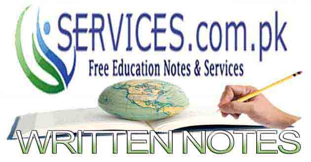 Free Download Notes For Class 9th IX, 10th X, FA/FSC Part-I & II, BA/BSC Part-I & II