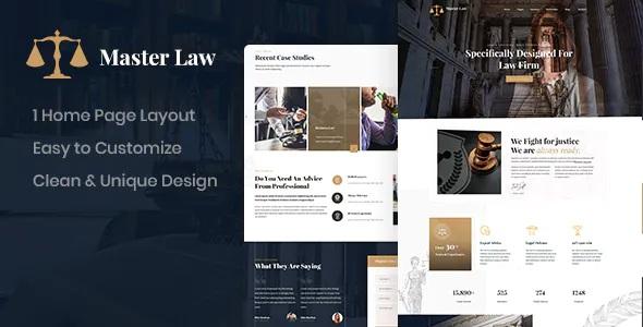 Best Attorney Onepage Website Template