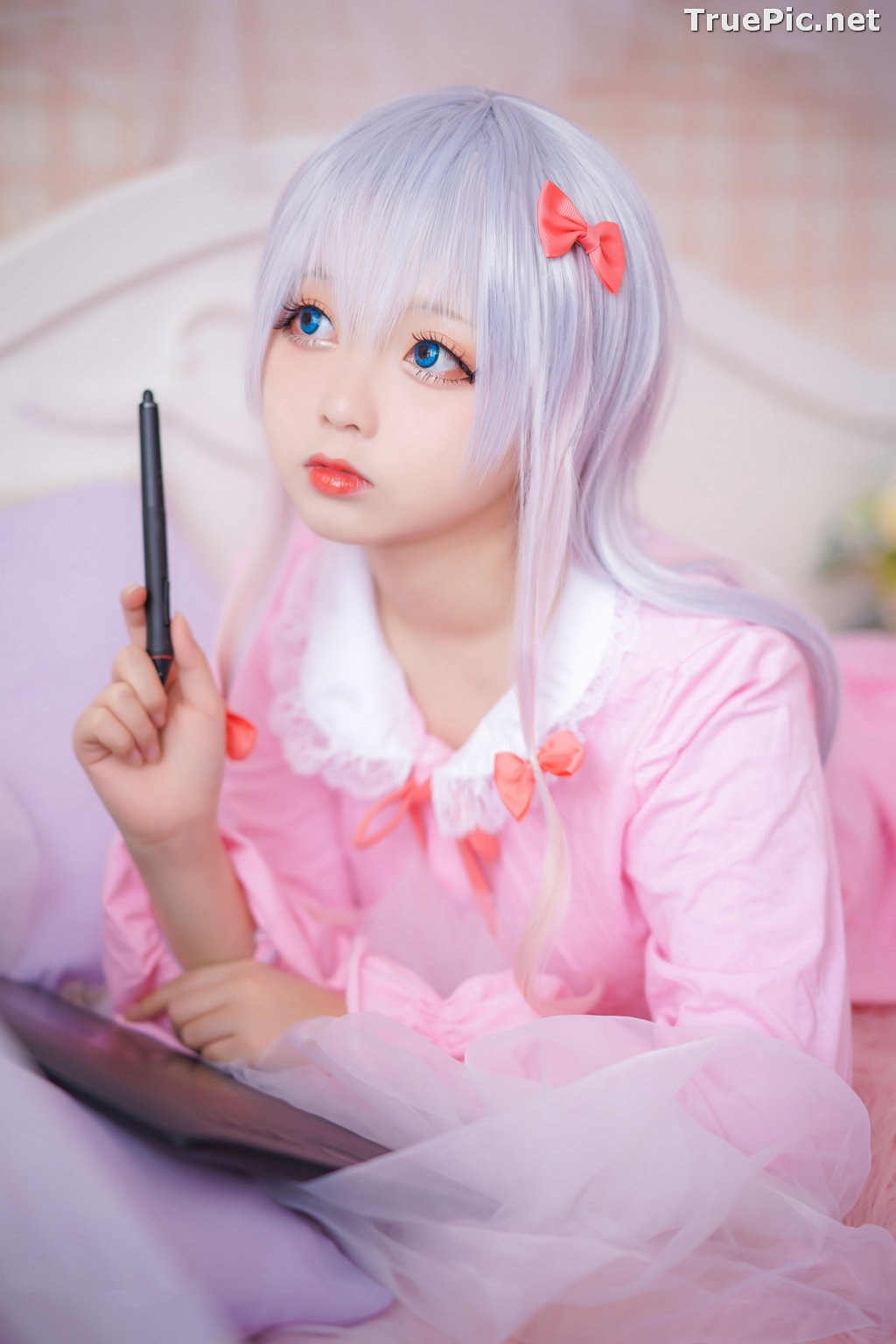 Image [MTCos] 喵糖映画 Vol.048 - Chinese Cute Model - Lovely Pink - TruePic.net - Picture-7