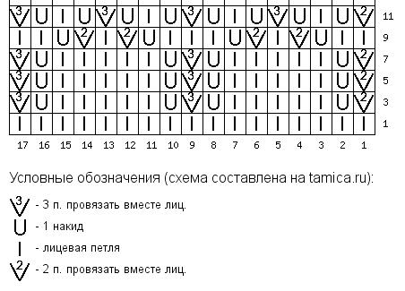 """Схема ажурного узора """"Восточные мотивы""""."""