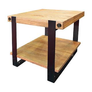 mesa lateral del sofa estilo industrial