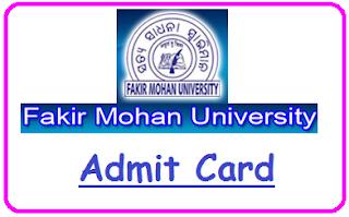 Fakir Mohan University +3 Admit Card 2021