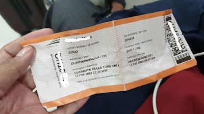 Jakarta Surabaya dengan Kereta Api ekonomi untuk tes CPNS (3)