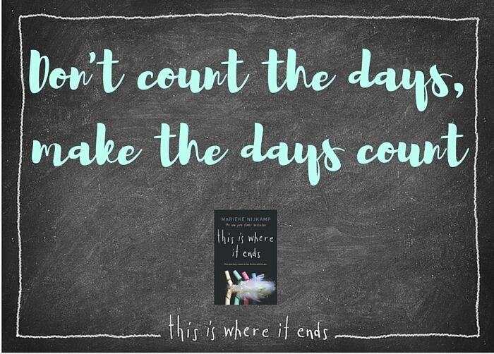 Every Moment Counts Quotes: BookCatPin: Join The This Is Where It Ends: Every Moment