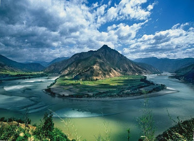 The river Yangtse, China