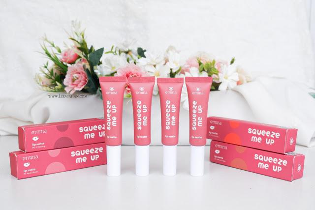 Emina Squeeze Me Up Lip Matte Review, Emina Squeeze Me Up Lip Matte swatch, Lipstick Emina, lipstik lokal, Emina cosmetics, lipstik terjangkau