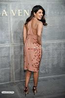 Priyanka Chopra is all brown in a deep neck beautiful dress at Bottega Veneta Show during NYFW ~  Exclusive 006.jpg