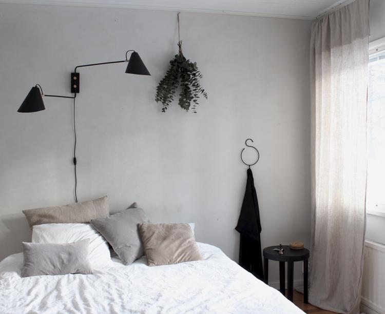 minimalistinen makuuhuone