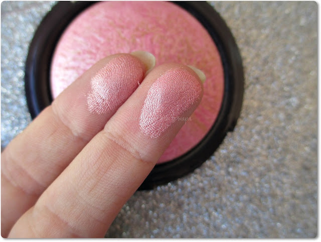 Colorete rosa de Yves Rocher - Swatch
