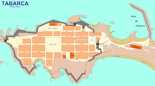 Mapa de Tabarca sacado de Wikipedia.