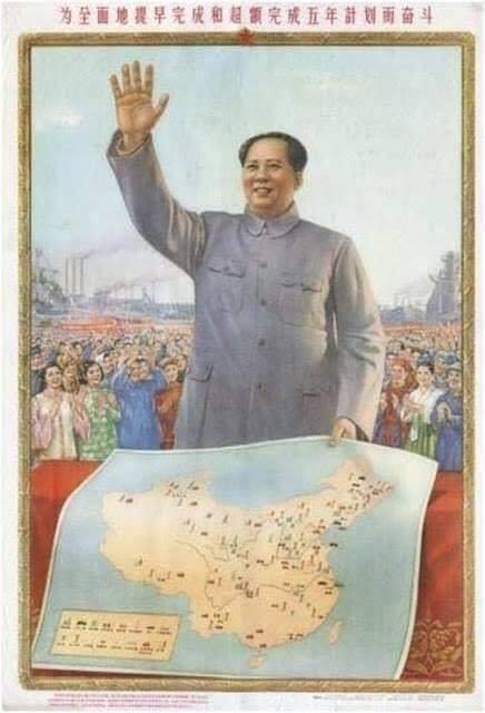 Mao Trạch Đông cầm tờ bản đồ Trung Quốc không có Hoàng Sa - Trường Sa