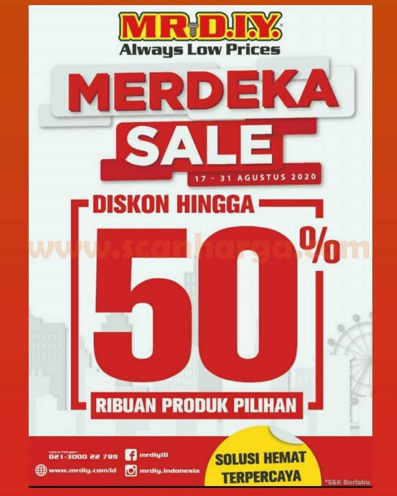 Promo Mr. DIY Merdeka Sale