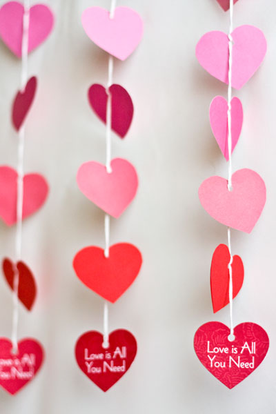 DIY Paper Heart Garland for Party Decoration