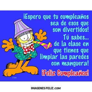 Feliz Cumpleaños Graciosas Chistosas garfield amiga