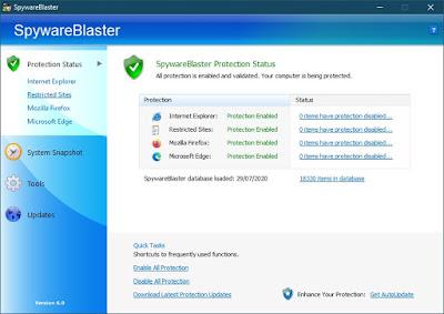 SpywareBlaster 6.0 - Vacuna los navegadores frente a programas maliciosos