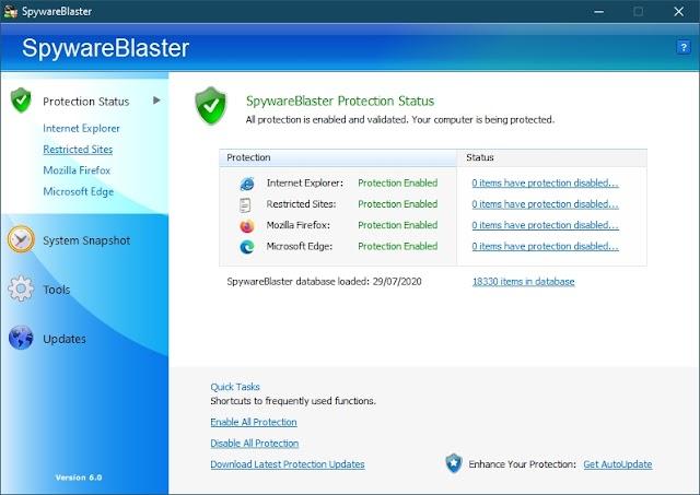 SpywareBlaster 6.0 - Vacuna los navegadores frente a programas maliciosos - Nueva versión