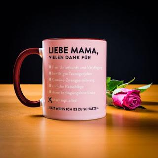 Geschenkideen von Radbag für den Muttertag 2017 - Liebe Mama Tasse