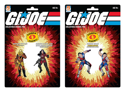 San Diego Comic-Con 2021 Exclusive G.I. Joe Pin Sets by Icon Heroes x Previews