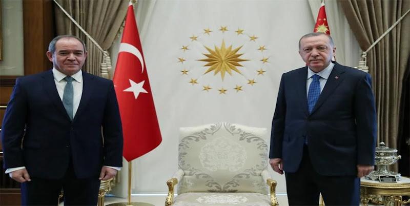 أردوغان يستقبل وزير الخارجية صبري بوقادوم