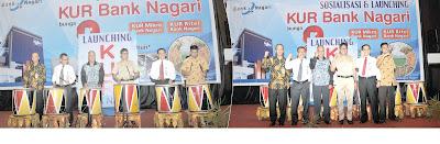 Bank Nagari Launching KUR,Resmi Dibuka Gubenur Sumbar