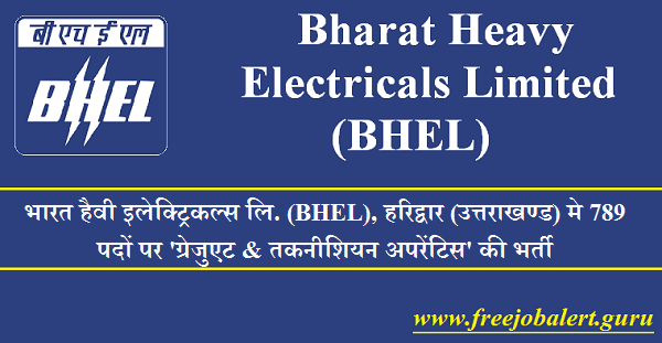 Bharat Heavy Electricals Limited, BHEL, Uttarakhand, UK, BHEL Recruitment, BHEL Haridwar, 10th, Act Apprentices, Latest Jobs, bhel logo