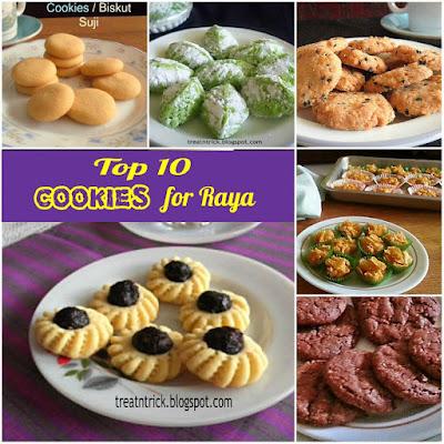 Top 10 Cookies For Raya @ treatntrick.blogspot.com