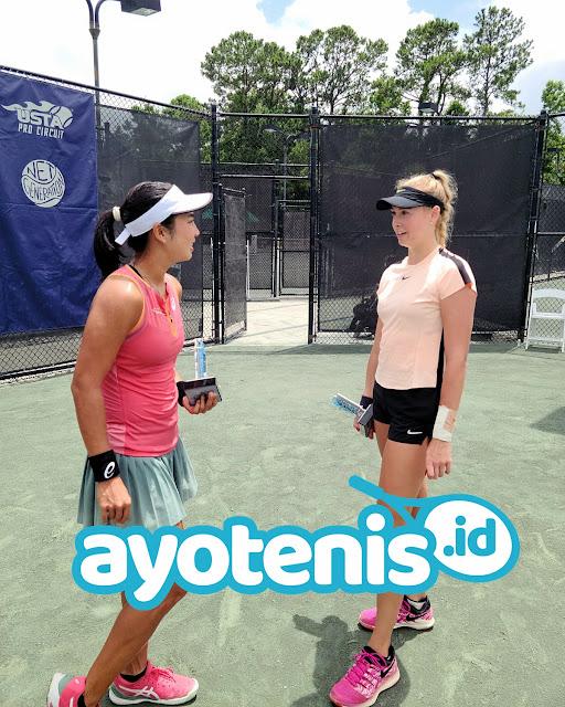 Jelang Ikuti 7 Turnamen di Amerika Serikat, Aldila Sutjiadi Gelar Latihan Bersama Robin Anderson