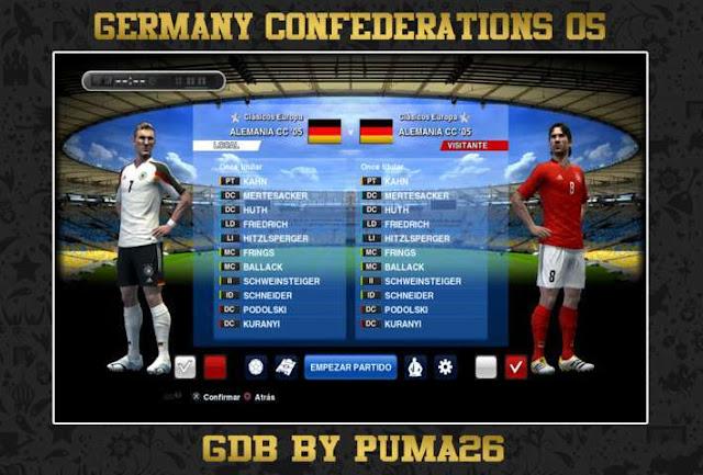 Germany Confederations CUP 2005 Kits PES 2013