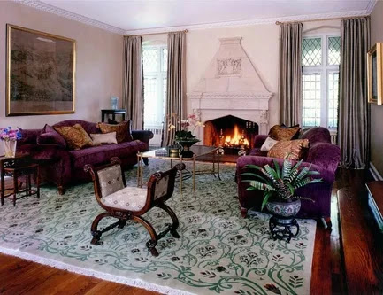 interior english style decorative pillows