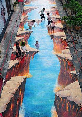 Lukisan 3D Jalanan