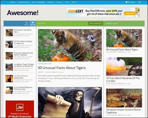 Awesome Mag Responsive Free Blogger Template
