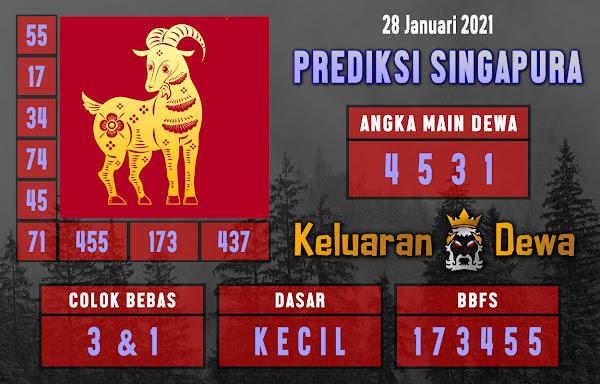 Prediksi Keluaran Singapore Kamis 28 Januari 2021 Terjitu
