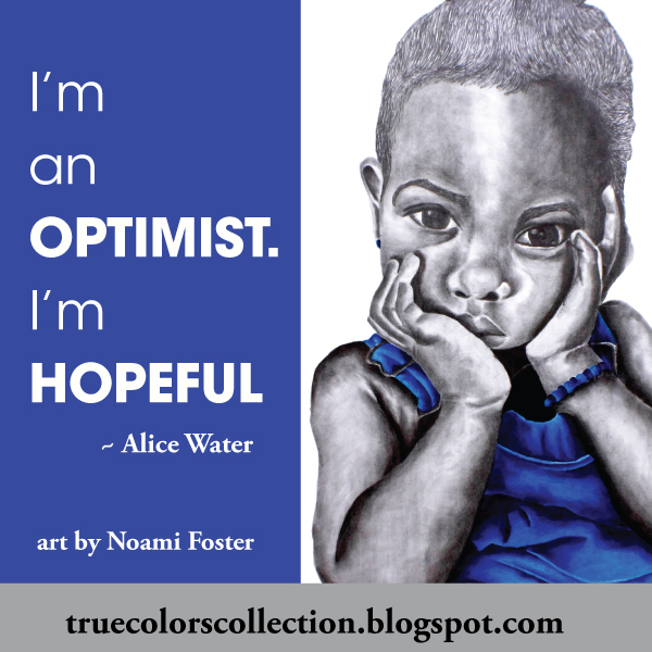 Blue Girl I from The True Colors Collection I am an optimist art by Noami Foster