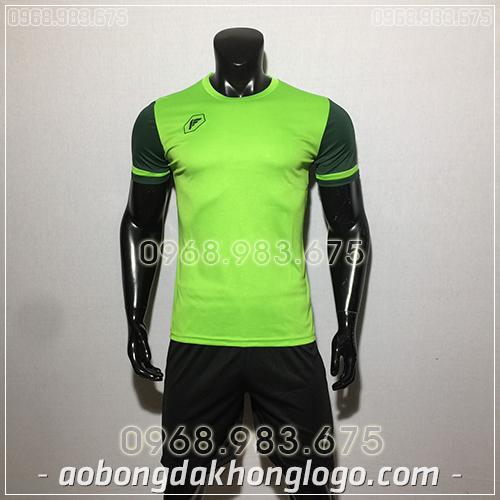 Áo bóng đá ko logo Fagan DG màu xanh lá
