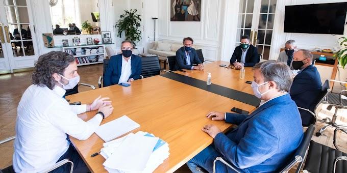 Cafiero se reunió con Menéndez y otros intendentes
