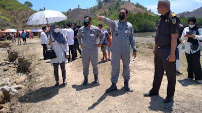 Bakamla RI Tinjau Lahan Pangkalan Armada Zona Maritim Tengah di Gorontalo Utara