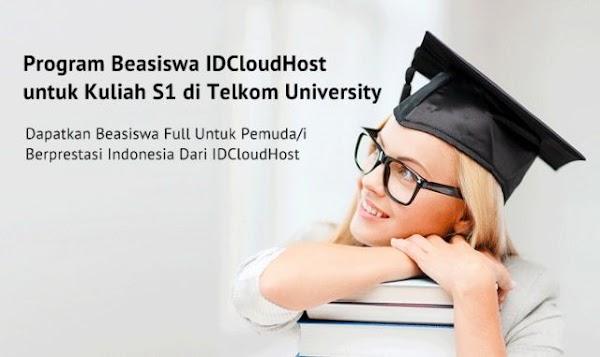 Beasiswa IDCloudHost 2020 untuk S1 | Beasiswa Telkom University Untuk S1 | Beasiswa Kuliah Di Telkom